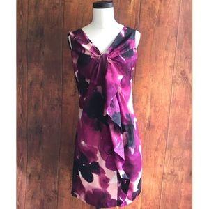 Ann Taylor LOFT Purple Watercolor Shift Dress